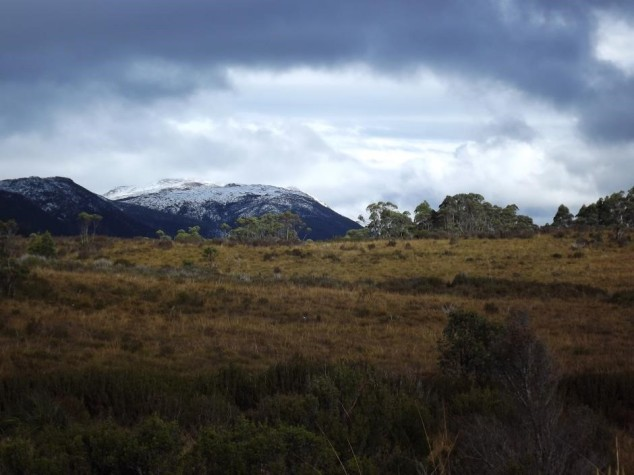 The wilderness of southwestern Tasmania.
